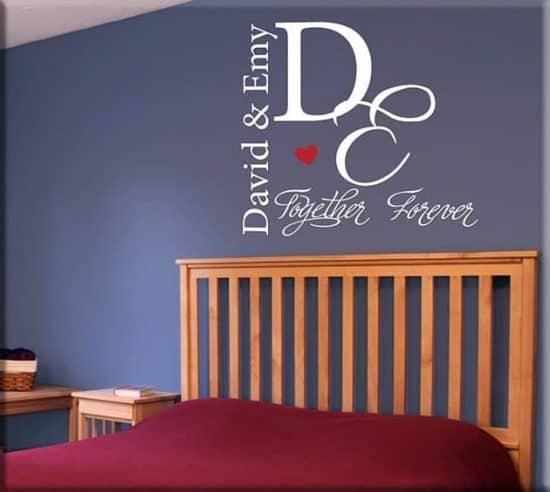 wall stickers personalizzati letto