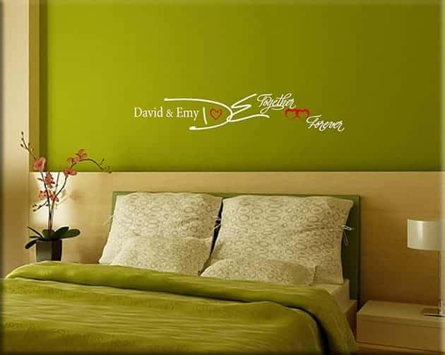 Decorazioni adesive murali personalizzate letto for Quadri decorativi arredamento