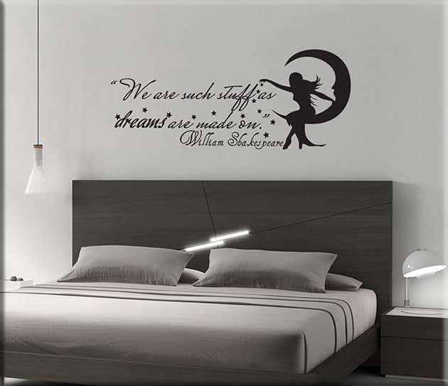 Wall stickers phrase william shakespeare - Stickers per camera da letto ...
