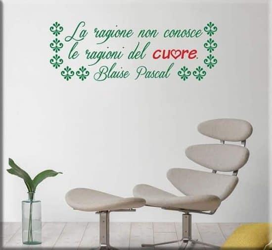 Adesivi da parete frase Blaise Pascal