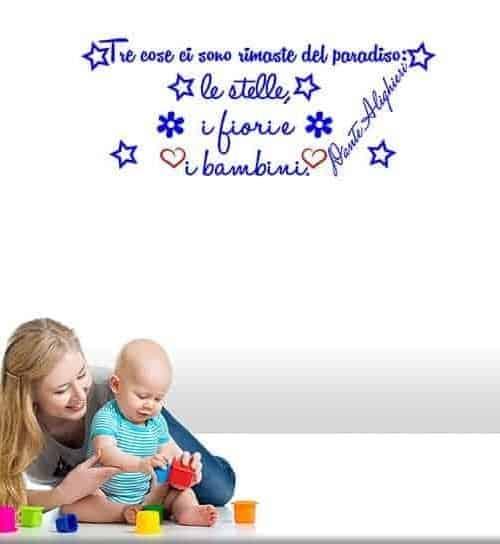 Adesivi murali bambini frase Dante Alighieri