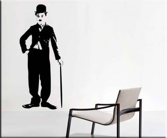 Decorazioni adesive murali Charlie Chaplin