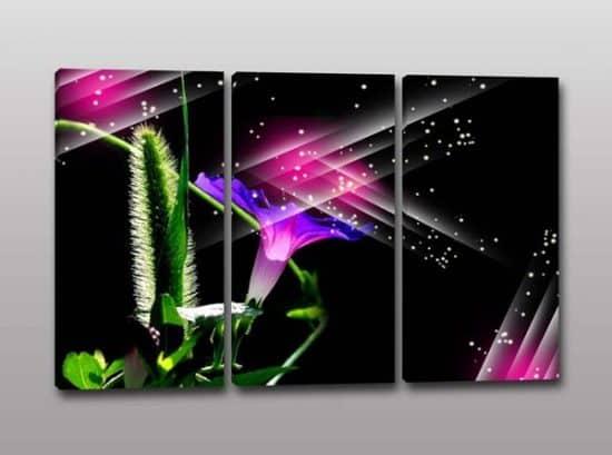Quadri moderni arte digitale fiore