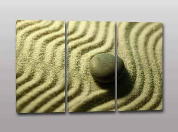 Quadri moderni pietra sabbia Zen