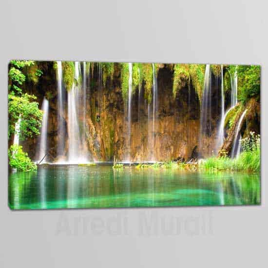 quadro moderno su tela paesaggio cascata