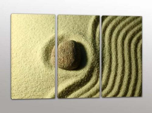 Tris quadri moderni sabbia pietra