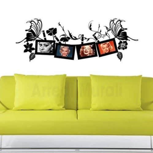 Wall stickers adesivi murali portafoto cornice per 4 foto