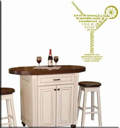 Wall stickers cosmopolitan cocktail bar