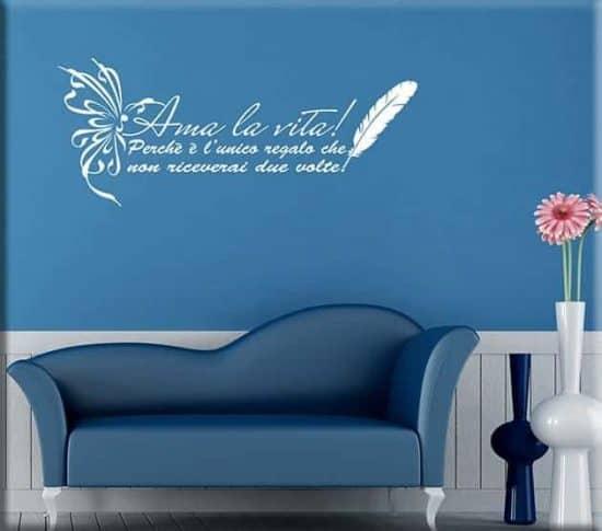 Wall stickers frase ama la vita