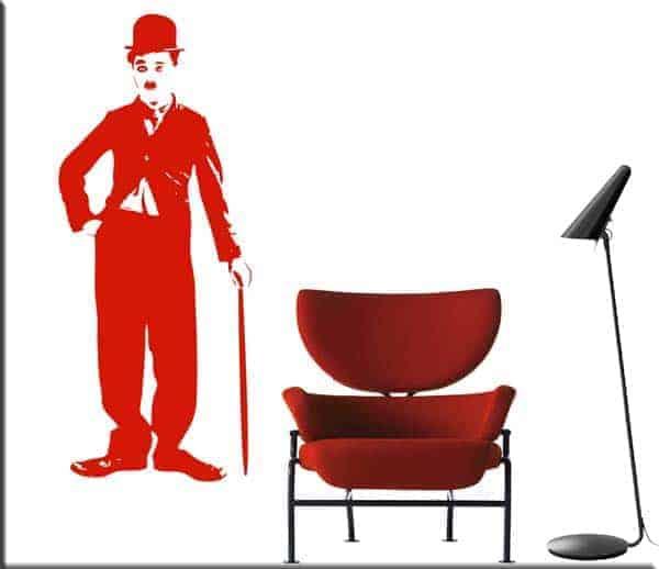 adesivi da parete Charlie Chaplin