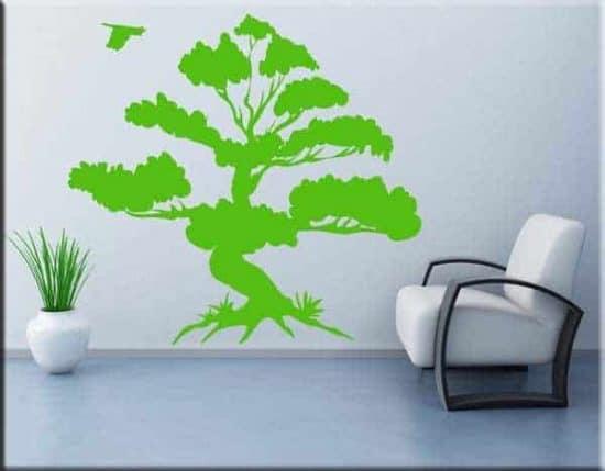 adesivi da parete albero bonsai