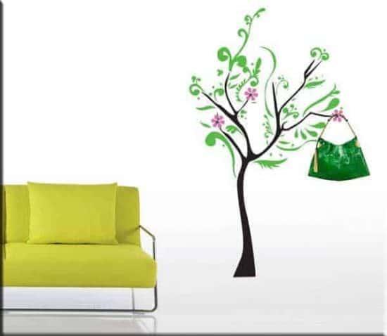 adesivi da parete appendiabiti albero