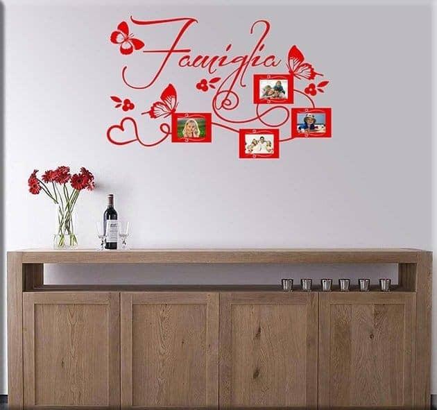 adesivi da parete foto famiglia