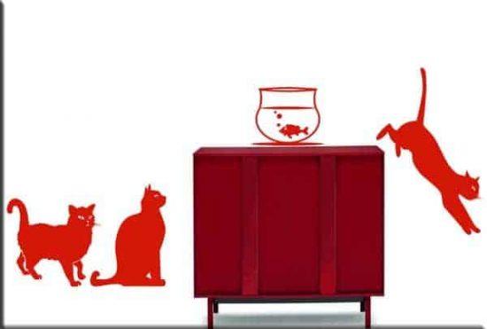adesivi da parete gatti arredo