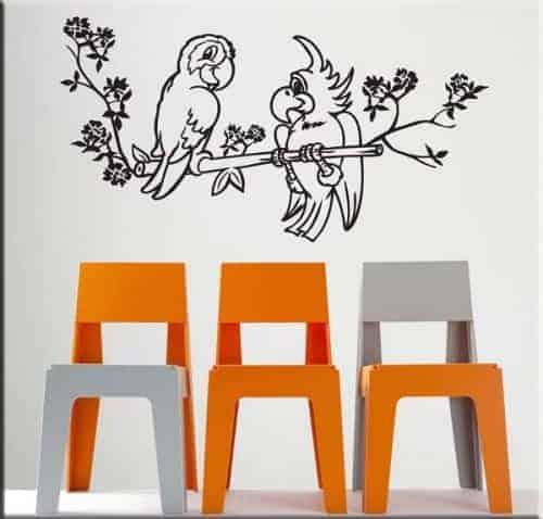 Adesivi murali animali arredi murali - Decorazioni parete bambini ...