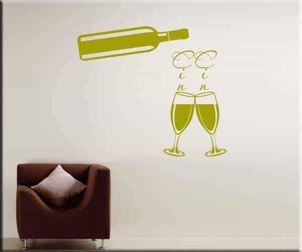 adesivi da parete vino cucina
