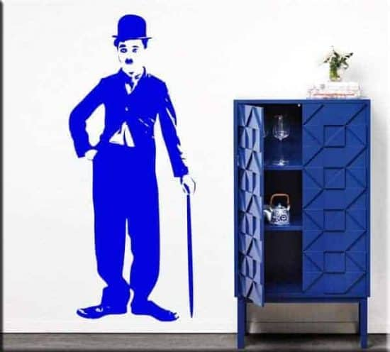 adesivi murali Charlie Chaplin