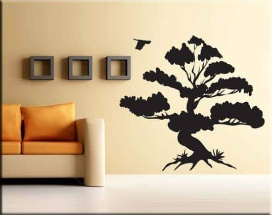 adesivi murali albero bonsai