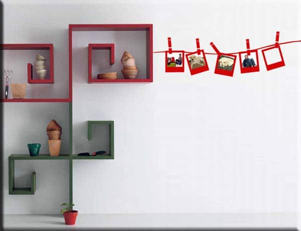 adesivi da parete portafoto cornici