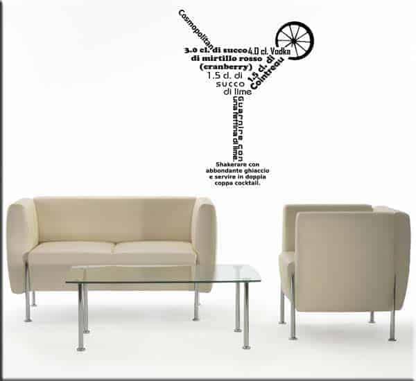 adesivi murali cosmopolitan cocktail bar