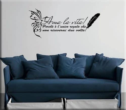 adesivi murali frase ama la vita