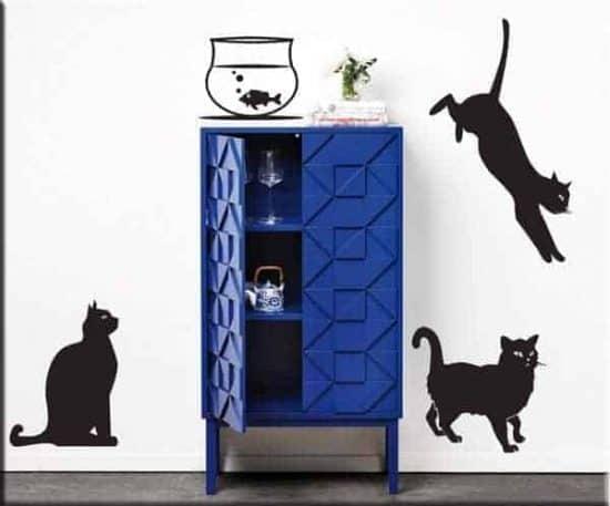 adesivi murali gatti arredo