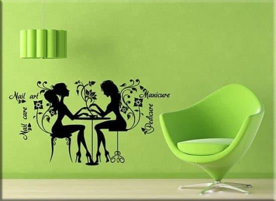 adesivi murali nail care art