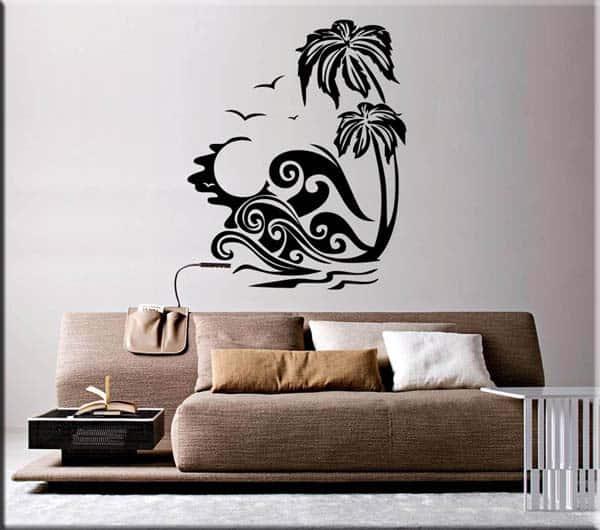 adesivi murali paesaggio esotico