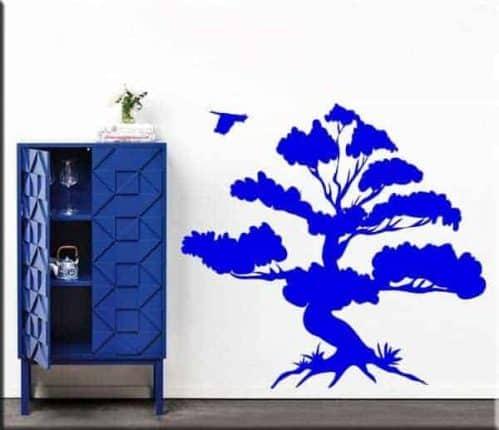 decorazioni adesive murali albero bonsai