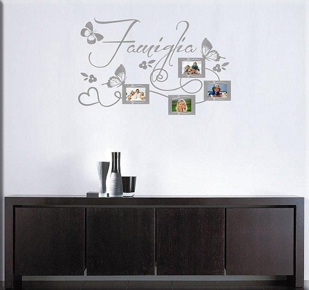 decorazioni adesive murali foto famiglia