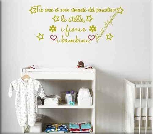 Adesivi murali frasi aforismi un nuovo modo per arredare - Decorazioni murali bambini ...