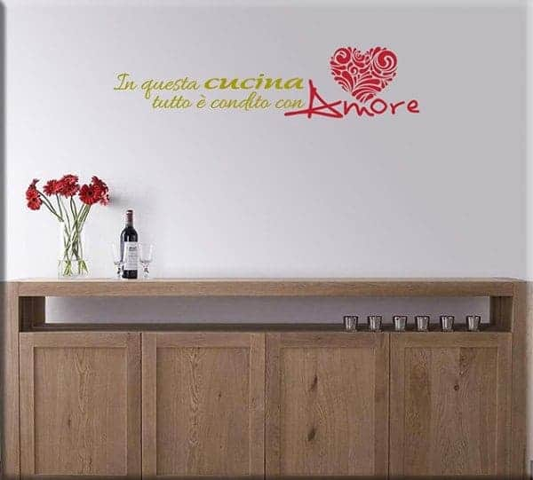 Wall stickers frase amore cucina - Wall stickers cucina ...