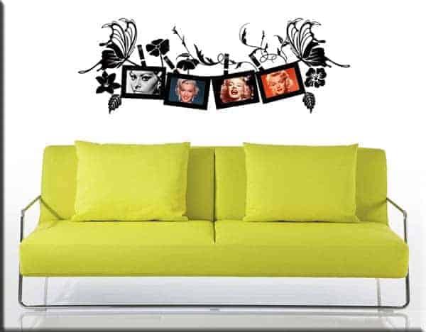 decorazioni adesive murali portafoto