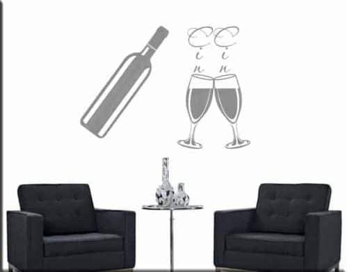 decorazioni adesive murali vino cucina