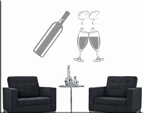Decorazioni adesive murali vino cucina - Decorazioni murali per cucina ...