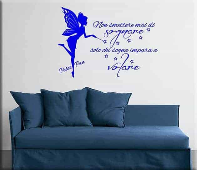 decorazioni murali frase Peter Pan