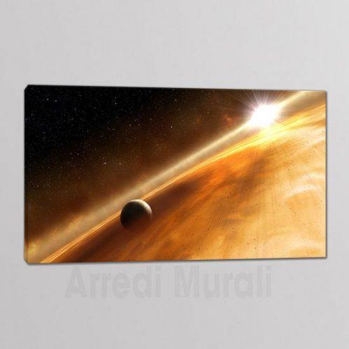 quadro su tela con immagine dello spazio
