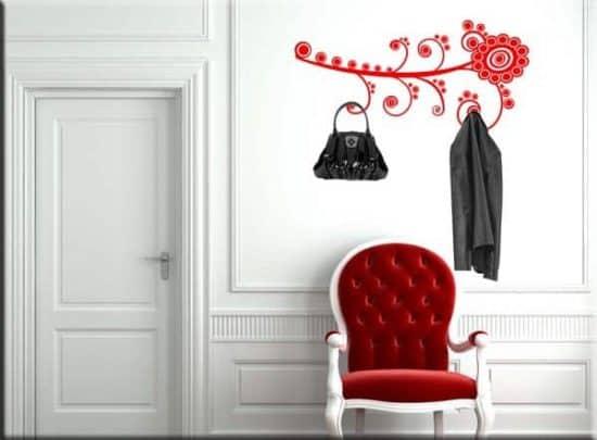 wall stickers appendiabiti fiore