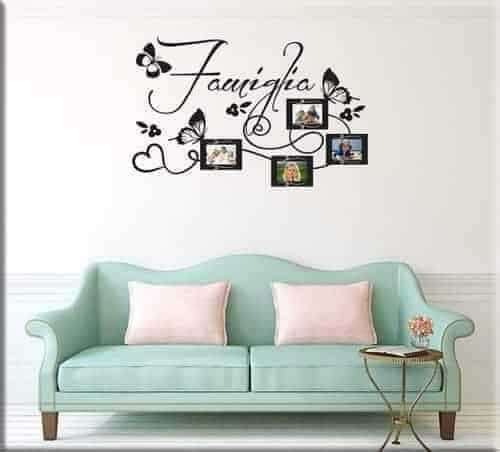 Adesivi murali frasi aforismi un nuovo modo per arredare for Cornici a muro per foto
