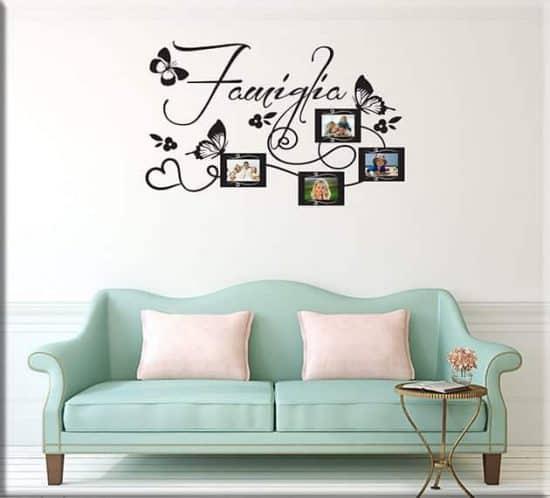 wall stickers cornici foto famiglia