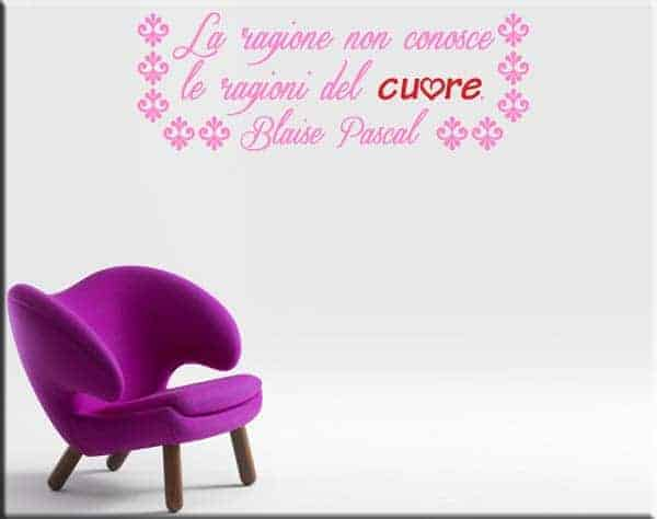 wall stickers frase Blaise Pascal