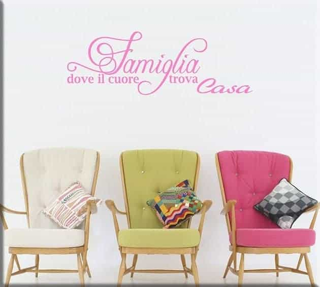 wall stickers frase famiglia