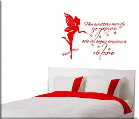 wall stickers frase peter pan