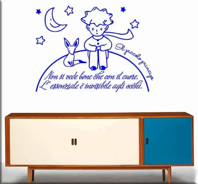 wall stickers frase piccolo principe