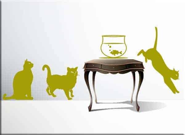 wall stickers gatti arredo