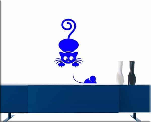 wall stickers gatto e topo