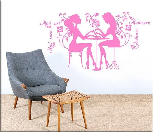 wall stickers nail care art