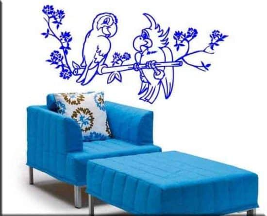wall stickers pappagalli bambini