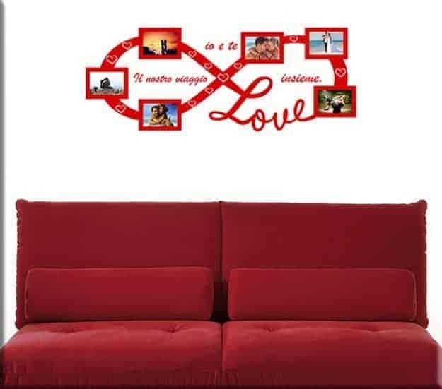 Adesivi da parete cornici foto love