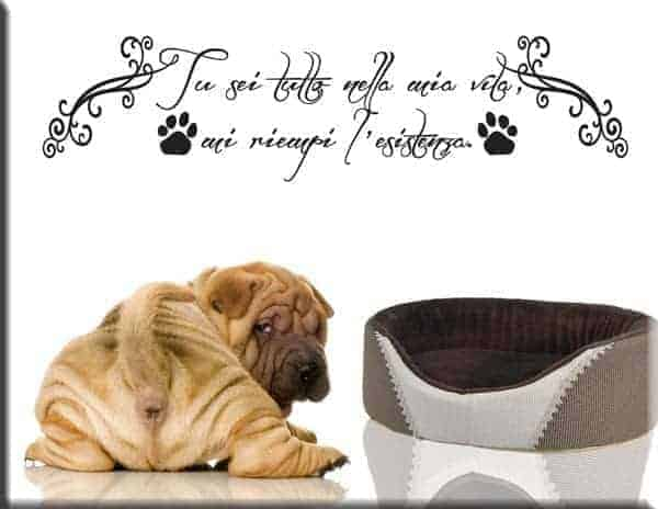 Adesivi da parete frase amico cane